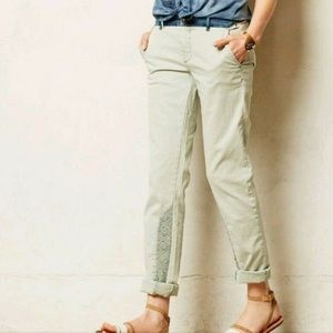 Anthropologie Hyphen Fit crochet chino pant 26